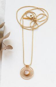 collier sautoir Iman rose doré de Shlomit Ofir
