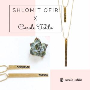 collier Carole x Shlomit Ofir argenté