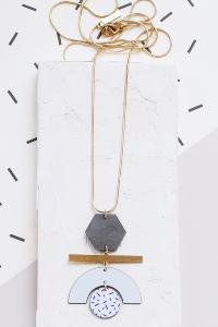 collier Movimento bleu de Shlomit Ofir