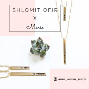 collier Marie x Shlomit Ofir doré