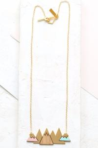 collier Artic doré rose de Shlomit Ofir