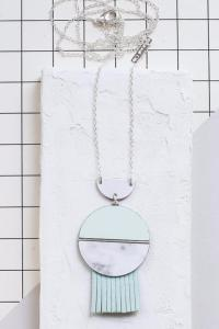 collier Circle aqua argenté de Shlomit Ofir