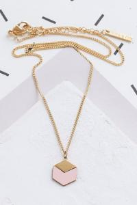collier Cube rose doré de Shlomit Ofir